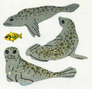 Pack of Prismatic Stickers - Seals And Fish