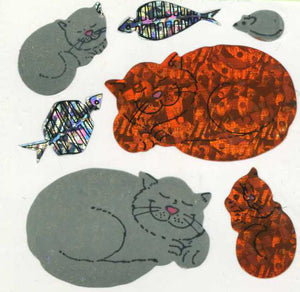 Pack of Prismatic Stickers - Sleepy Cats