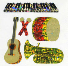 Load image into Gallery viewer, Pack of Prismatic Stickers - Musical Instruments