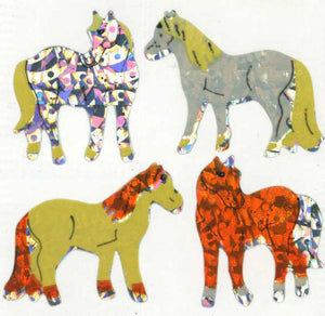 Pack of Prismatic Stickers - Shire Horses