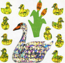 Load image into Gallery viewer, Pack of Prismatic Stickers - Swans And Cygnets