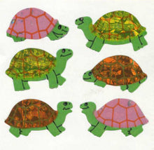 Load image into Gallery viewer, Pack of Prismatic Stickers - Multicoloured Tortoises