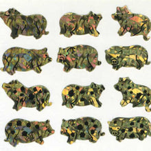 Load image into Gallery viewer, Pack of Prismatic Stickers - Micro Pigs