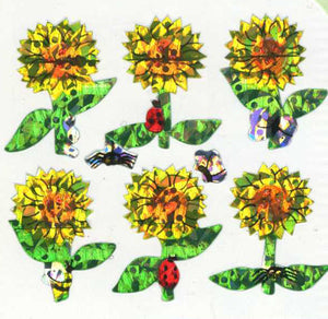 Pack of Prismatic Stickers - Sunflowers