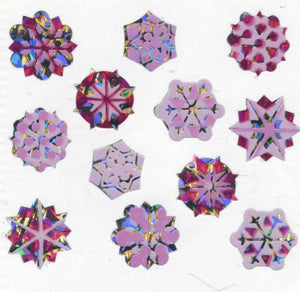 Pack of Prismatic Stickers - Snowflakes