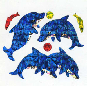 Pack of Prismatic Stickers - Dolphin & Fish