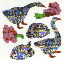 Load image into Gallery viewer, Pack of Prismatic Stickers - Geese & Bunny