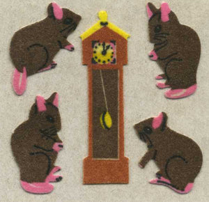Pack of Furrie Stickers - Hickory Dickory Dock