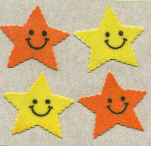 Pack of Furrie Stickers - Smiley Stars