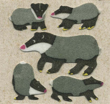 Load image into Gallery viewer, Pack of Furrie Stickers - Badger Family
