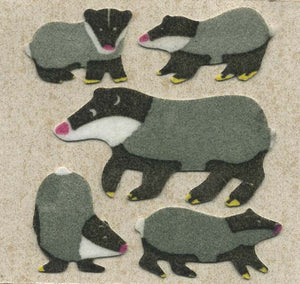 Pack of Furrie Stickers - Badger Family