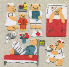 Load image into Gallery viewer, Pack of Furrie Stickers - Micro Teddy Hospital