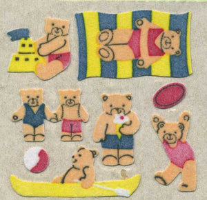 Pack of Furrie Stickers - Micro Teddy Seaside