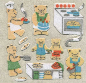 Pack of Furrie Stickers - Micro Teddy Kitchen