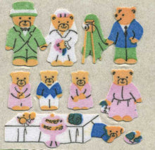 Load image into Gallery viewer, Pack of Furrie Stickers - Micro Teddy Wedding