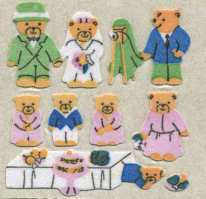 Pack of Furrie Stickers - Micro Teddy Wedding