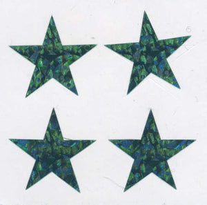 Pack of Prismatic Stickers - 4 Green Stars