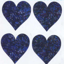 Load image into Gallery viewer, Pack of Prismatic Stickers - 4 Lilac Hearts