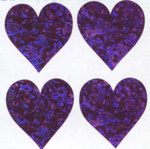Pack of Prismatic Stickers - 4 Pink Hearts