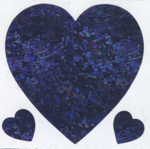 Pack of Prismatic Stickers - 3 Lilac Hearts