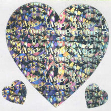 Load image into Gallery viewer, Pack of Sparkly Prismatic Stickers - 3 Hearts