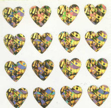 Load image into Gallery viewer, Pack of Sparkly Prismatic Stickers - 16 Hearts