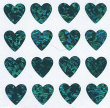 Load image into Gallery viewer, Pack of Prismatic Stickers - Multi Turquoise Hearts