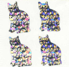 Load image into Gallery viewer, Pack of Sparkly Prismatic Stickers - 4 Cats