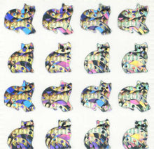 Load image into Gallery viewer, Pack of Prismatic Stickers - Micro Silver Cats
