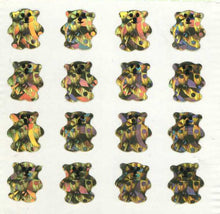 Load image into Gallery viewer, Pack of Prismatic Stickers - Micro Gold Teddies