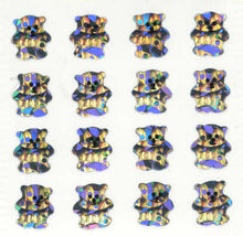 Load image into Gallery viewer, Pack of Prismatic Stickers - Micro Silver Teddies