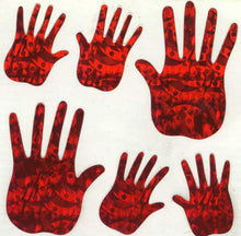 Load image into Gallery viewer, Pack of Prismatic Stickers - Red Hands