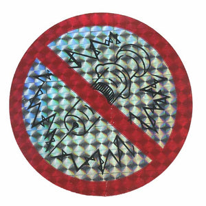 Pack of Prohibitive Prismatic Stickers - No Drugs
