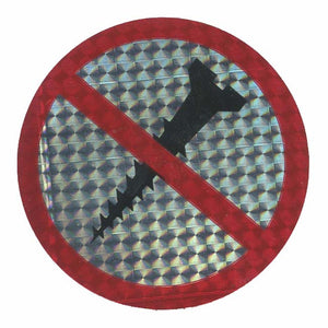 Pack of Prohibitive Prismatic Stickers - No Screwing