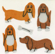 Load image into Gallery viewer, Pack of Silkie Stickers - Basset Hounds