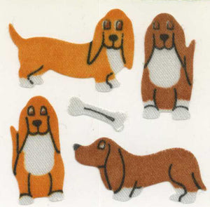 Pack of Silkie Stickers - Basset Hounds