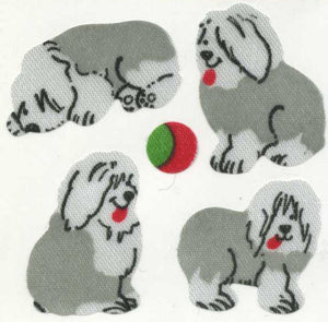 Pack of Silkie Stickers - Sheepdog Puppies