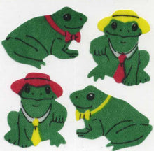 Load image into Gallery viewer, Pack of Silkie Stickers - Frog & Hat