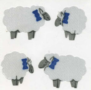 Pack of Silkie Stickers - Sheep
