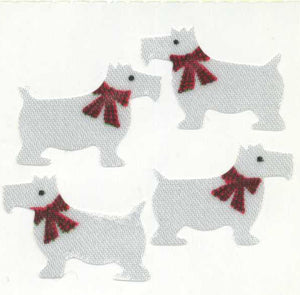 Pack of Silkie Stickers - White Scotties