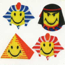 Load image into Gallery viewer, Pack of Silkie Stickers - Egyptian Smiley Faces