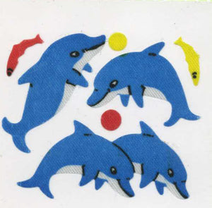 Pack of Silkie Stickers - Dolphin & Fish
