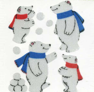 Pack of Silkie Stickers - Polar Bear