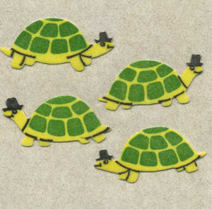 Pack of Furrie Stickers - Green Tortoises