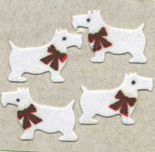 Load image into Gallery viewer, Pack of Furrie Stickers - White Scottie Dogs