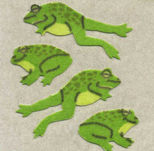 Pack of Furrie Stickers - Jumping Frogs