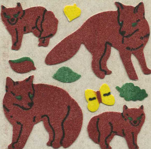 Pack of Furrie Stickers - Foxes