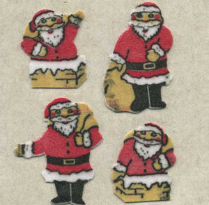 Pack of Furrie Stickers - Mini Santas