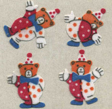 Load image into Gallery viewer, Pack of Furrie Stickers - Teddy Clowns