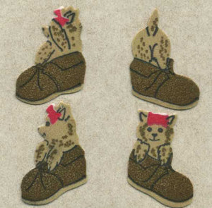 Pack of Furrie Stickers - Puppies In Shoes